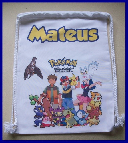 30 sacolinha tipo mochilinha, mochila personalizada 30 x 20
