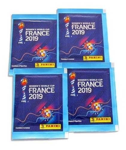 30 sobres láminas mundial de fútbol femenino francia 2019