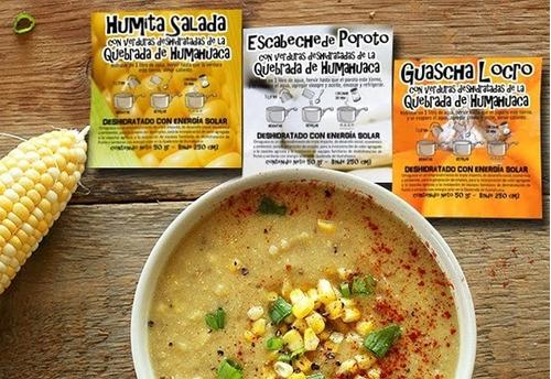 30 sopas y guisos deshidratados, de la quebrada de humahuaca