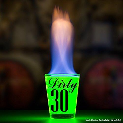 30 sucios vidrio de tiro - regalo de cumpleaños 30 de - cel
