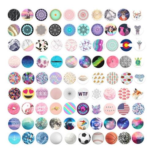 30 suporte celular pop fashion botão + kit clip