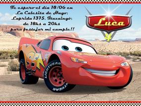 30 Tarjetas Invitaciones Cumpleaños Cars