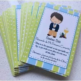 30 Tarjetas O Invitacion Comunion Original Personalizadas