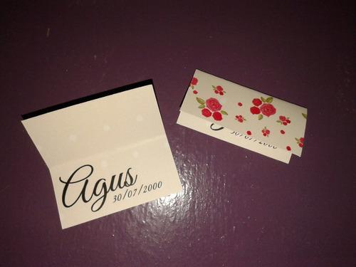 30 tarjetas para souvenir personalizadas casamientos 15 años