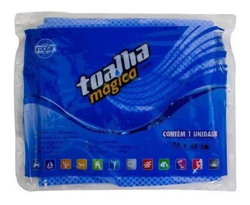30 toalha magica multiuso azul 75x20cm p/ lava jato + econom