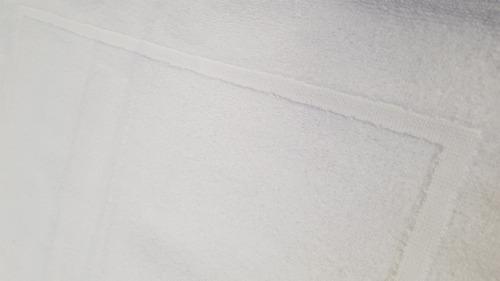 30 toalla tapete torzal recuadro bca, 50x70 cm, peso 270 gr