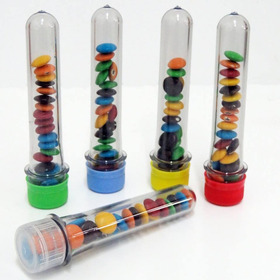 30 Tubos Golosineros 14cm Souvenirs Infantiles Candy
