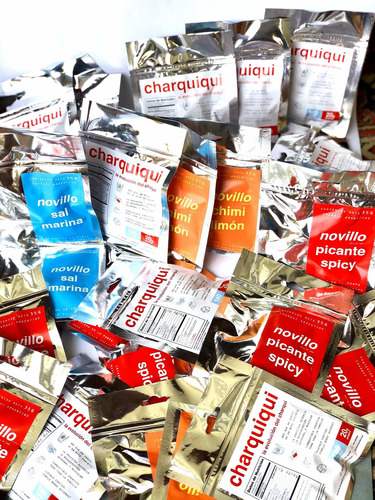 30 unidades charquiqui línea pampa snack keto