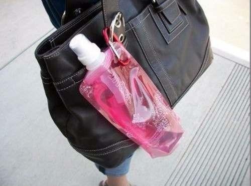 30 unidades garrafa squeeze dobravél reutilizável 480 ml
