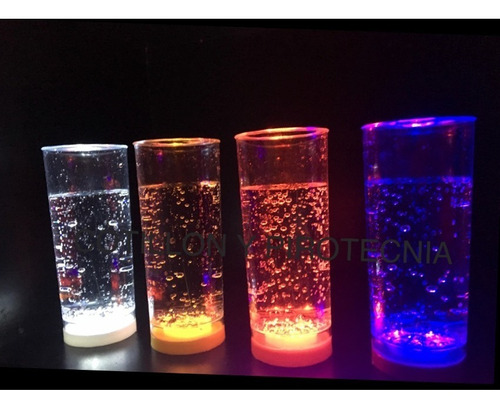 30 vasos led luminosos 8 colores diferentes 3 led c/vaso f