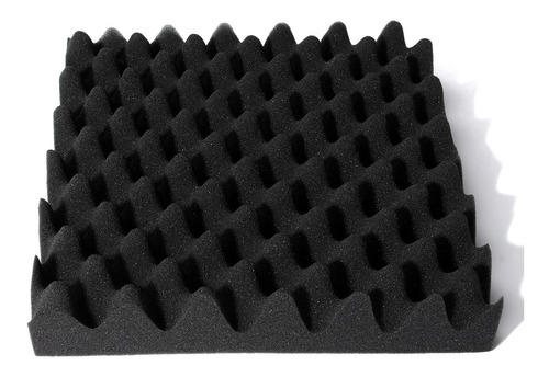 30 x 30 x 6 cm preto isolamento acústico espuma de ovo crate