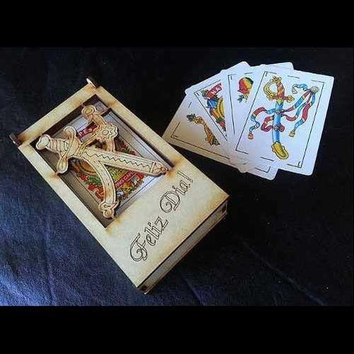300 cajas para naipes truquera  madera personlizadas mdf