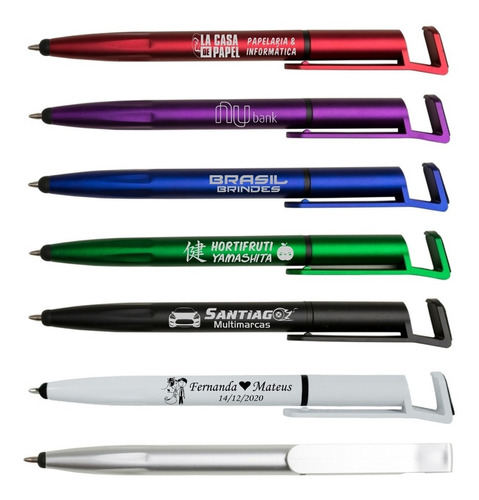 300 canetas touch personalizadas com sua logomarca
