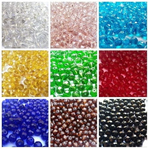 300 contas de cristal vidro 8mm