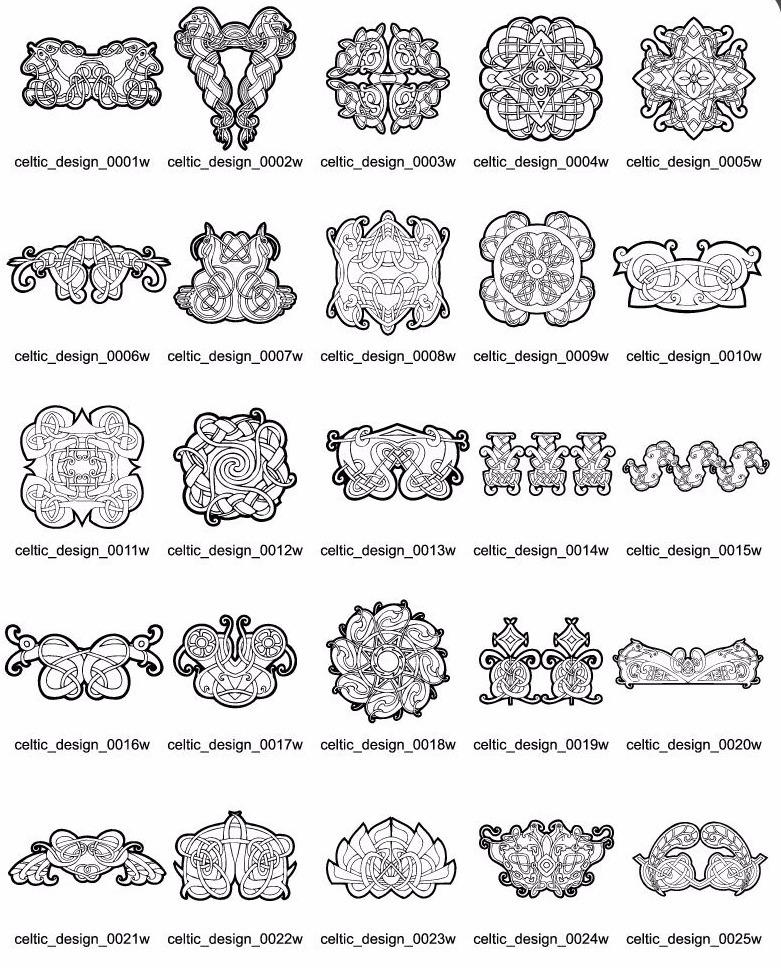 300 Diseños Celtas Tribales Ornamentas Patrones Vectores Ser - $ 350 ...