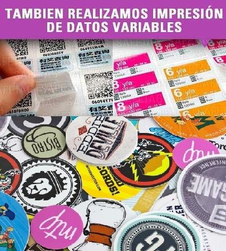 300 etiquetas autoadhesivas circulares redondos 4cm calcos stickers calcomanias troquelados especiales formas resistente