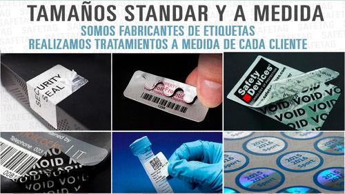 300 etiquetas seguridad fajas garantia destructibles 50x25 mm sellos reparaciones productos equipos void hologramas etc