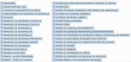 300 modelos de petição judiciais