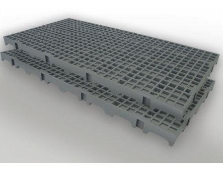 300 palete / pallets / pisos e estrados em plastico pretos