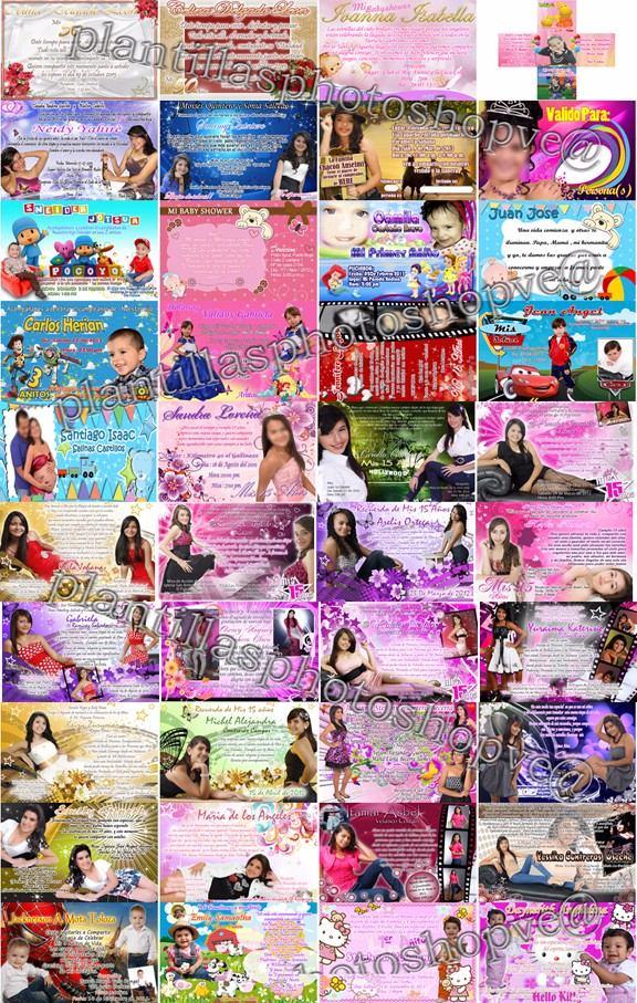 300 Plantillas Photoshop Tarjetas De Invitacion Editables