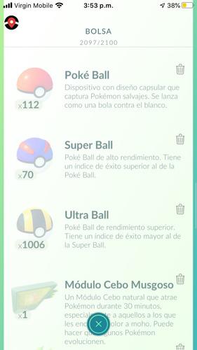 300 pokeballs + items random