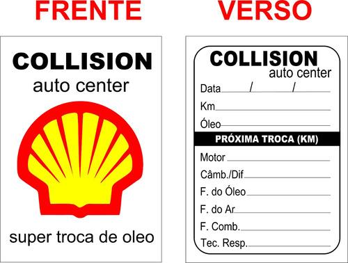 3000 adesivos etiquetas troca de óleo 4 cores