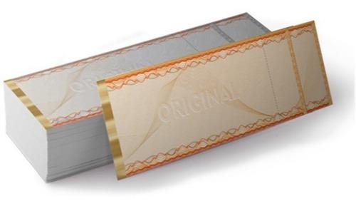 3000 ingressos  papel moeda impressão laser / jato tinta