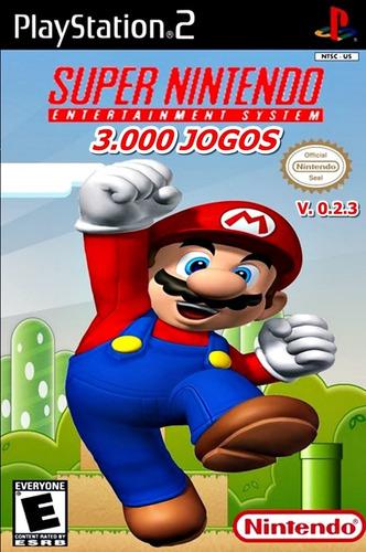 3000 jogos de super nintendo snes patch ps2 + frete grátis