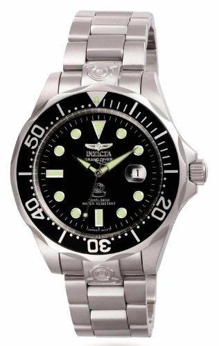 3044 acero inoxidable gran diver reloj automáti envío gratis