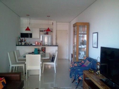 306 santos - ponta da praia - 03 ds - c/ varanda gourmet
