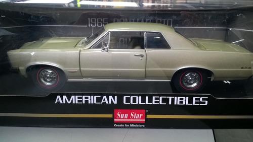 30cms auto clasico pontiac gto modelo 1964 escala 1/18
