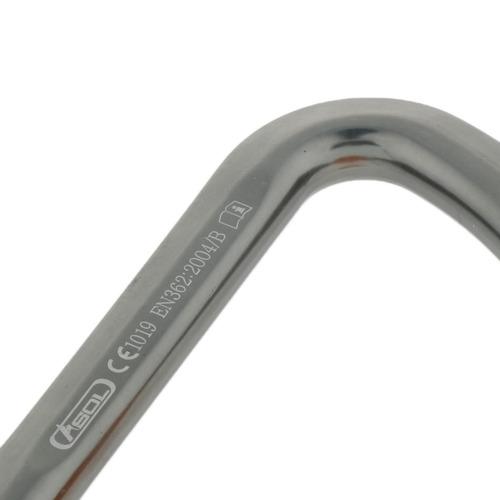 30kn aluminio escalada al al aire libre tipo d mosquetón gr