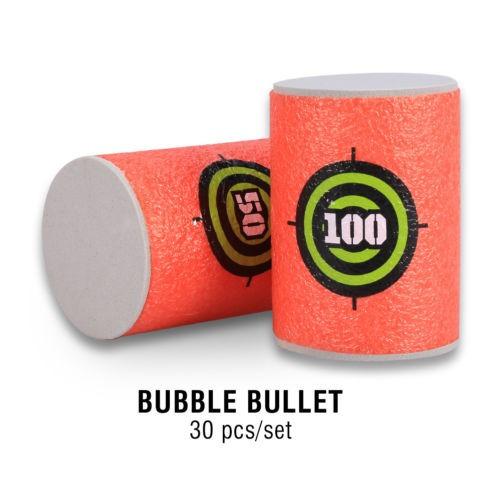 30pcs/set suave eva material bala blanco juguete pistola tir