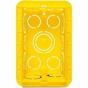 30x caixa plástica 4x2 luz amarela