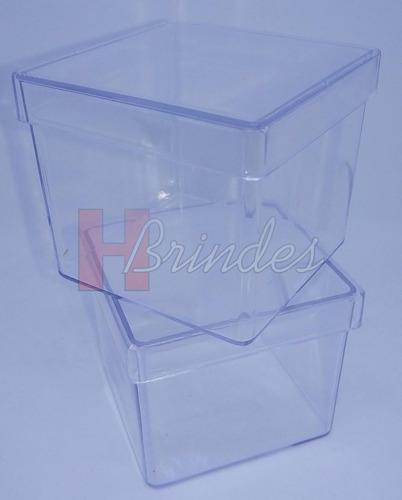30x caixinhas acrílico p/ personalizar lembrancinha tam. 5x5