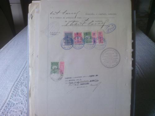 31- documento  com selos de fiscais  do brasil