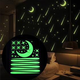 31 Imagens Adesivos Fluorescentes Teto Lua Estrelas Cometas
