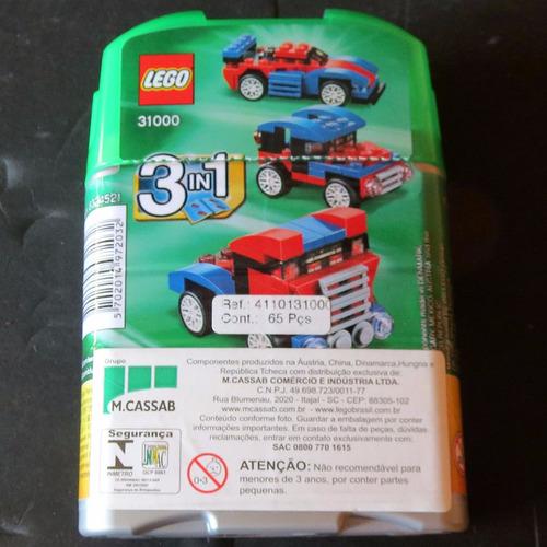 31000 - lego® creator 3 em 1 - mini speeder - 65 pçs