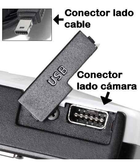 Cable de cargacable de datos puerto USB para Casio Exilim ex-fc300s