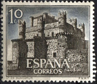 3159 españa castillo guadamur scott#1365 10c mint n h 1966