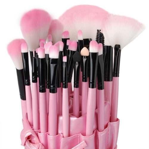 32 brochas profesionales rosas pelo pony-cabra 100% m3025