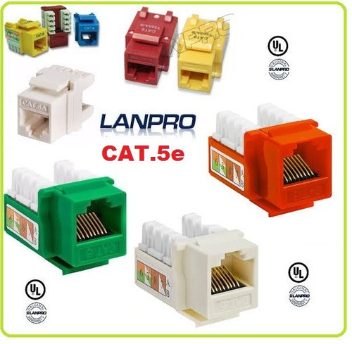 32 conector rj45 cat6 lanpro bolsa 100 unidades