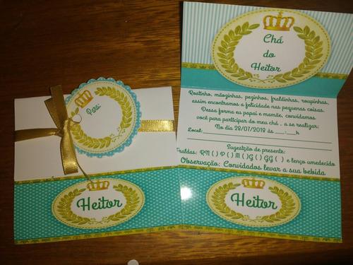 32 convites chá de fralda ou bebe, aniversário lindos