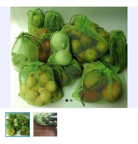 32 ecostalistos 4 paquetes de 8 reutilizables fruta verdura