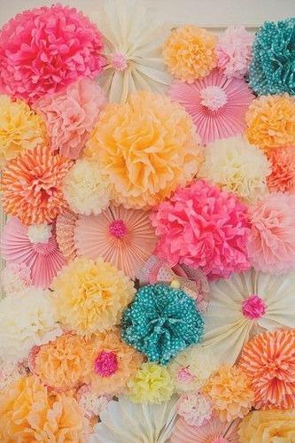 32 flores pom pom 22 de 50 cms y 10 flores 35 cms diametro