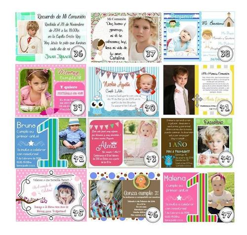 32 tarjetas  invitaciones añito bautismo casamientos 15 años