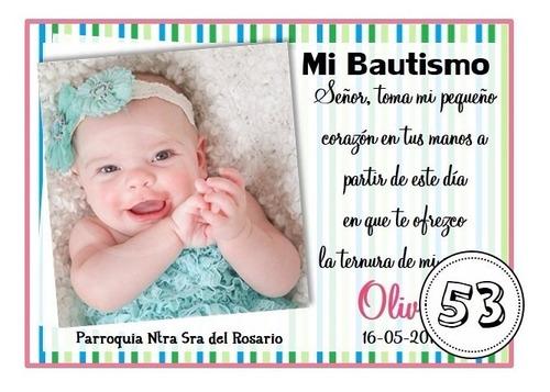 32 tarjetas invitaciones estampita bautismo comunion 15 años