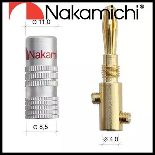 32 un plug banana nakamichi  p/ receiver denon marantz onkyo
