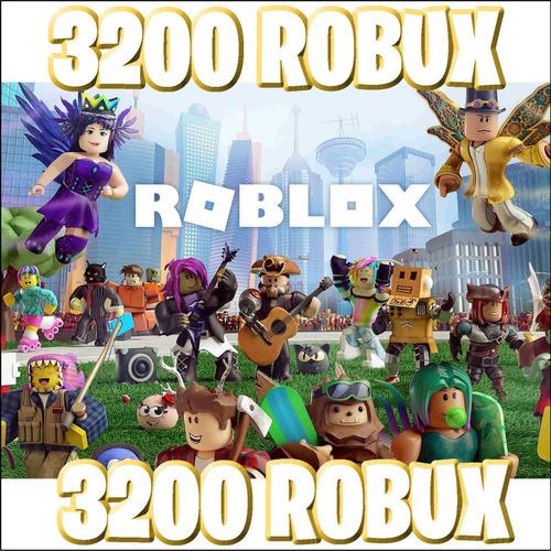 3200 robux - roblox @ entrega inmediata