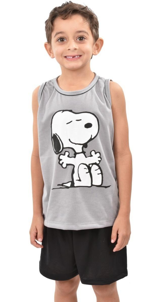 915278c97ff 327 Pijama Regata Snoopy Família Masculino Infantil Menino - R$ 32 ...
